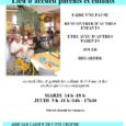 Le LAPE sera fermé mardi 13 octobre. Nos accueillantes, Danièle et Marie-Odile participent aux journées départementale REAAP (Réseaux d'Ecoute, d'Appui et d'Accompagnement des Parents). Plein de projets en cours pour […]