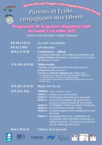 Programme  journée REAAP du 13 octobre 2015