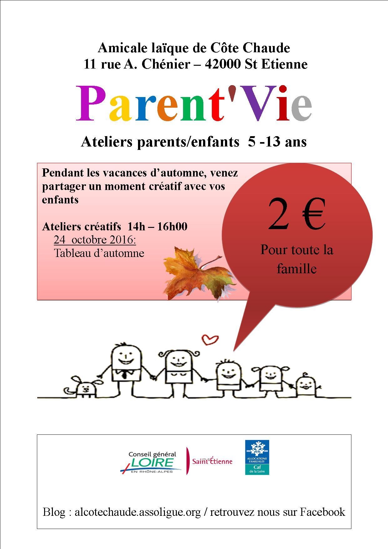 Affiche Parent'vie 2016-2017