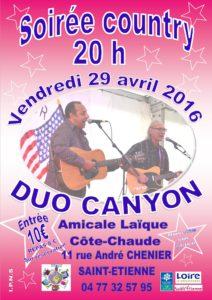 Affiche soirée country 29 04 16