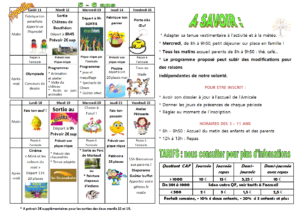 vancances avril 5-6 ans