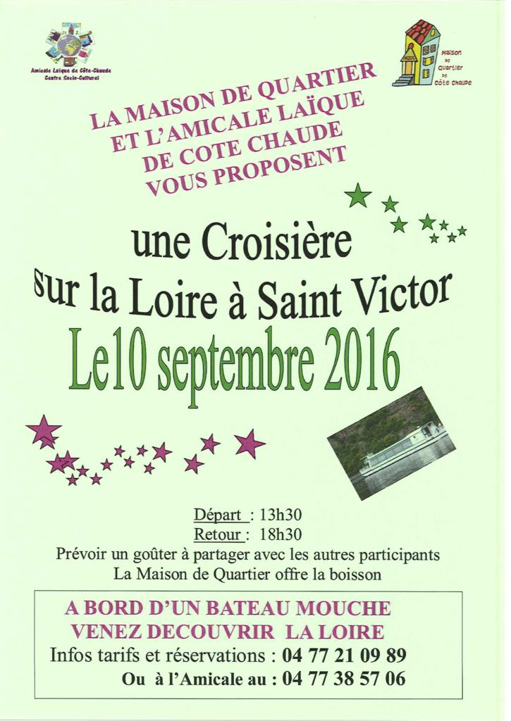 affiche croisière St-Victor