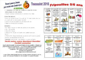 vacances de la Toussaint 2016 5 à 6 ans