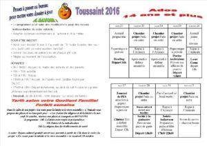 vacances de la Toussaint 2016 Ados 14 et plus