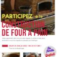 Venez et participez à la construction de briques en terre crue pour un four à pain sur remorque… Venez et apprenez à réaliser briques et four, en famille ….. Ce […]